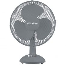 """Schallen Home & Office Electric 12"""" 3 Speed Electric Oscillating Worktop Desk Table Air Cooling Fan - GREY"""