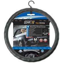 Sumex Car+ 'Ergonomic' Leather Soft Grip Car Steering Wheel Cover - Black