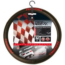 Sumex Car+ Race Sport Steering Wheel Cover Glove - Black With Red Racing