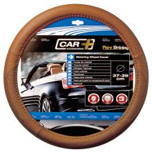 Sumex Car+ Soft Leather Car Steering Wheel Cover - Aero Tan Tobacco Brown