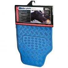 Sumex Universal Aluminium Look Heavy Duty Car Mats - Blue