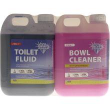 Blue Diamond Caravan & Motorhome Toilet Fluid and Cleaner Twin Pack