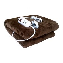 Schallen Luxury Soft Heated Throw Blanket with Timer & 10 Heat Settings - 120x160cm - BROWN