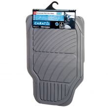Sumex Universal Carat Durable 5mm Thick Rubber Car Floor Mats - Grey
