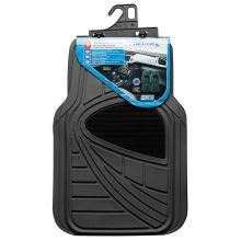 Sumex Universal Delta Heavy Duty Durable Rubber Car Floor Mats - Black