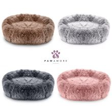 Pawamore Soft Pet Calming Anxiety Donut Cushion Warm Nest Cat Dog Bed