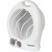 Schallen Small Lightweight Portable 2Kw 2000W Electric Floor Upright Fan Heater - WHITE