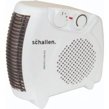 Schallen White Small Quiet Portable Floor & Upright 2Kw 2000W Electric Fan Heater