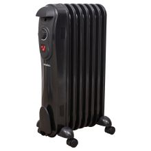 Schallen 7 Fin 1500W Oil Filled Radiator - Black