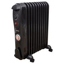 Schallen 11 Fin 2500W Oil Filled Radiator with Timer - Black