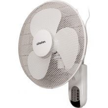 "Schallen 16"" 40cm Oscillating Wall Mounted Air Cool Fan with 3 Speed Settings, Timer & Remote Control - WHITE"
