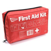 Emergency First Aid Kit in Soft Red Storage Bag