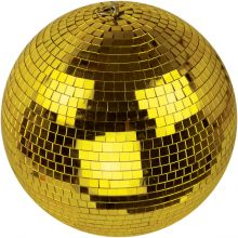 Lightweight Gold Event Dance Disco Party DJ Mirror Ball
