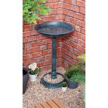 Outdoor Weather Resistant Natural Green Freestanding Pedestal Bird Bath