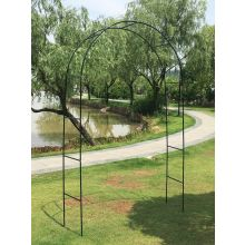 Outdoor Durable Green Metal Arch Garden Archway for Climbing Plants, Vines, Lights and Flowers
