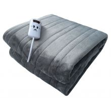 Schallen Luxury Soft Heated Throw Blanket with Timer & 10 Heat Settings - 120x160cm - GREY