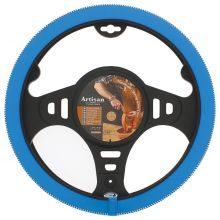 Sumex Italian Hand Made 'ARTISAN' Soft Leather Car Steering Wheel Cover - Blue