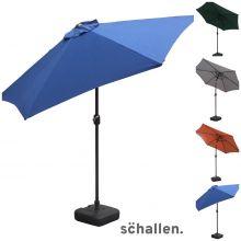 Schallen 2.7m UV50 Leaning Sun Umbrella Parasol with Winding Crank & Tilt Function