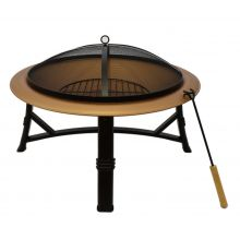 Schallen Large 75cm Round Outdoor Heating Coal & Wood Burning Fire Pit Bowl