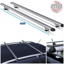 Streetwize Universal 135cm Aluminium Roof Rack Cross Bars for Cars Raised Rails