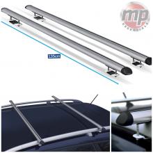 Streetwize Universal 135cm Aluminium Roof Rack Cross Bars for Cars Raised Rails