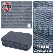 Weaved Rot Weatherproof Ground Groundsheet Tent & Awning Carpet Floor Mat - BLUE & GREY