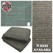 Weaved Rot Weatherproof Ground Groundsheet Tent & Awning Carpet Floor Mat - GREEN & GREY