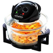 Schallen 2 in 1 Deep Fat Free Frying Healthy No Oil Cooker Deluxe Glass Air Fryer