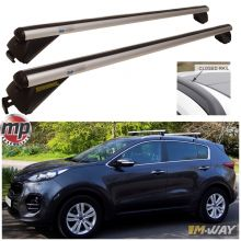 Maypole 1.35m 90kg Locking Aluminium Car Roof Bars Cross for Profile Flush Rails