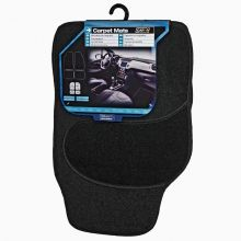 Sumex Universal Velour Carpet Protection Car Floor Mats - Black
