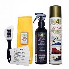 N4E Ladies Footwear Shoe Cleaner, Restorer & Reviver Care Cleaning Kit with Waterproof Spray