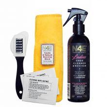 N4E Ladies Footwear Shoe Cleaner, Restorer & Reviver Care Cleaning Kit