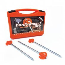 Blue Diamond Orange Pro Pegs Hard Ground Tent & Awning Pegs x 20 with Plastic Storage Case