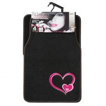 Sumex Universal Velour Carpet Car Floor Mats - Heart