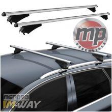 M-Way Avia Universal Aluminium Roof Bars 1.2m for Integrated And Raised Roof Rails