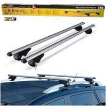 M-Way Universal 135cm Aluminium Car Roof Rack Bars for Raised Rails - Lockable