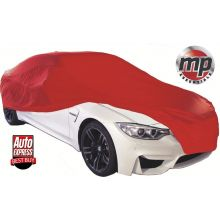 MP Essentials Soft Breathable Fabric Indoor, Garage & Showroom Full Car Cover - RED