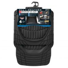 Sumex Heavy Duty Deep Dish Rubber Car Floor Mats - Black