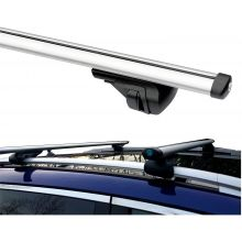 Summit 135cm Aluminum Lockable Roof Bars to Fit Cars with Raised Running Rails