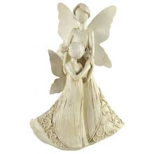 Mother and Child Angel Ornament Statue Figure for Indoor & Outdoor Garden Use