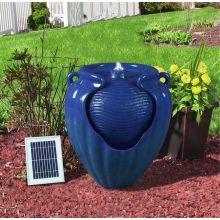 Gardenwize Outdoor Solar Ceramic Pot Urn Terracotta Water Fountain Feature