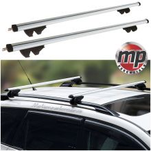 Streetwize Universal 135cm Aluminium Roof Rack Bars for Cars with Raised Rails - LOCKABLE