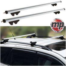 Streetwize Universal 135cm Aluminium Roof Rack Bars for Cars with Raised Rails - LOCKABLE